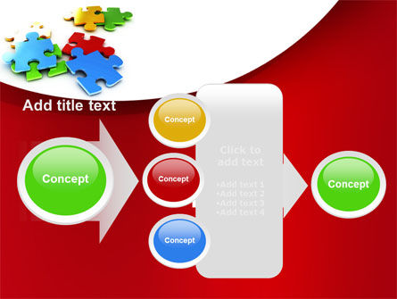Colorful Puzzle Pieces PowerPoint Template Slide 17