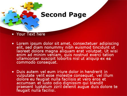 Colorful Puzzle Pieces PowerPoint Template, Slide 2, 09505, Consulting — PoweredTemplate.com