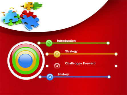 Colorful Puzzle Pieces PowerPoint Template Slide 3