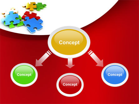 Colorful Puzzle Pieces PowerPoint Template, Slide 4, 09505, Consulting — PoweredTemplate.com