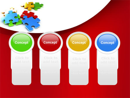 Colorful Puzzle Pieces PowerPoint Template Slide 5