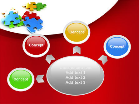 Colorful Puzzle Pieces PowerPoint Template Slide 7