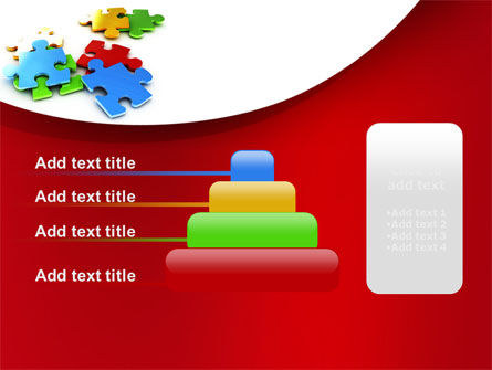 Colorful Puzzle Pieces PowerPoint Template Slide 8