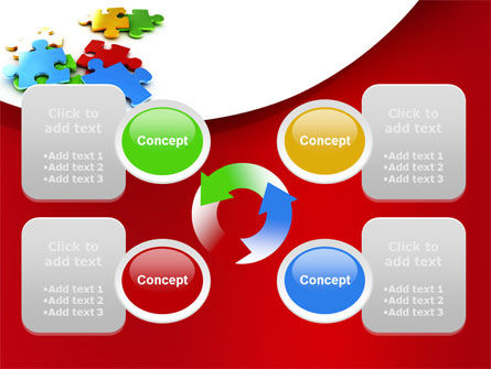 Colorful Puzzle Pieces PowerPoint Template Slide 9
