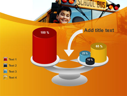 School Bus With Happy Pupil PowerPoint Template Slide 10