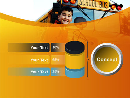 School Bus With Happy Pupil PowerPoint Template Slide 11