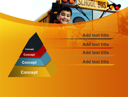 School Bus With Happy Pupil PowerPoint Template Slide 12