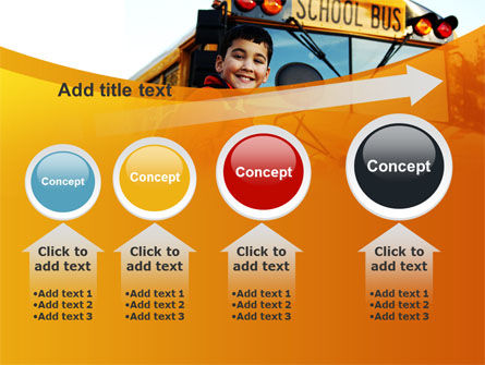 School Bus With Happy Pupil PowerPoint Template Slide 13