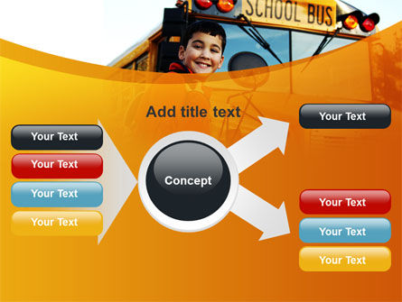 School Bus With Happy Pupil PowerPoint Template Slide 14