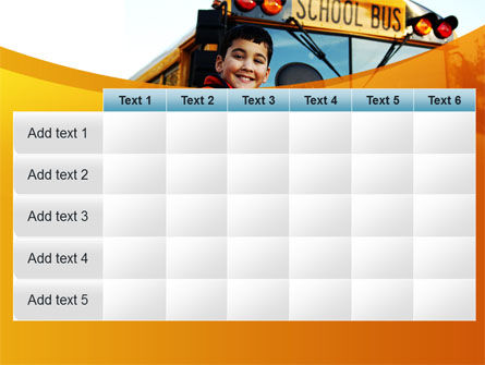 School Bus With Happy Pupil PowerPoint Template Slide 15