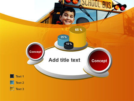 School Bus With Happy Pupil PowerPoint Template Slide 16