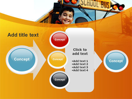 School Bus With Happy Pupil PowerPoint Template Slide 17