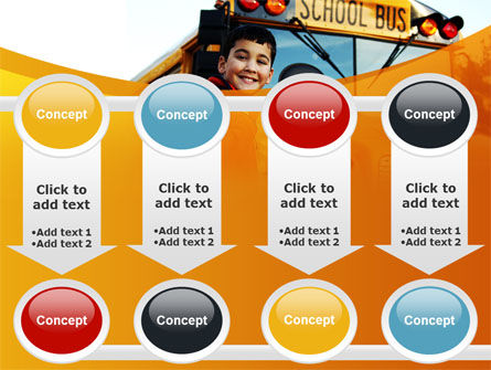 School Bus With Happy Pupil PowerPoint Template Slide 18