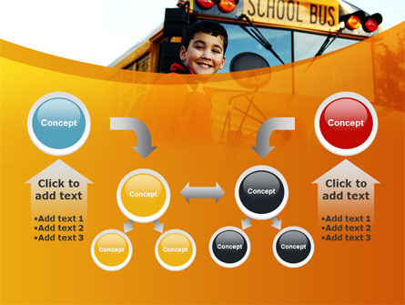 School Bus With Happy Pupil PowerPoint Template Slide 19