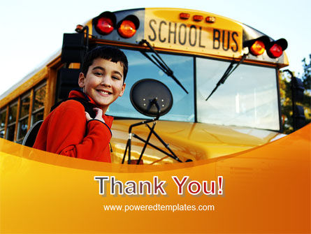 School Bus With Happy Pupil PowerPoint Template Slide 20