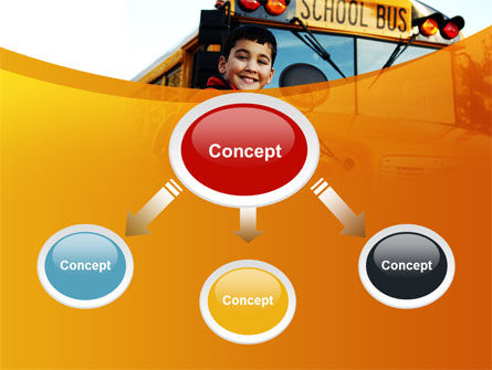 School Bus With Happy Pupil PowerPoint Template Slide 4