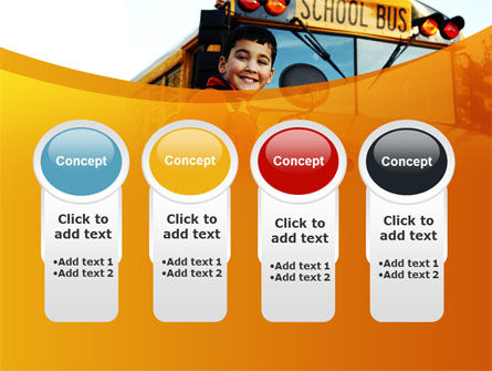School Bus With Happy Pupil PowerPoint Template Slide 5