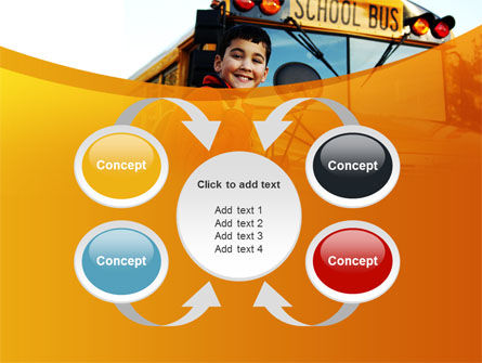 School Bus With Happy Pupil PowerPoint Template Slide 6