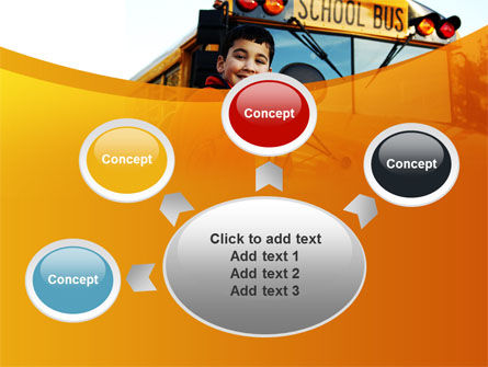 School Bus With Happy Pupil PowerPoint Template Slide 7
