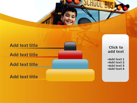 School Bus With Happy Pupil PowerPoint Template Slide 8