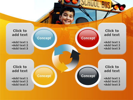 School Bus With Happy Pupil PowerPoint Template Slide 9