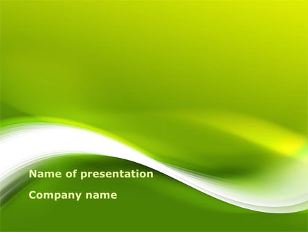 White Abstract Wave PowerPoint Template