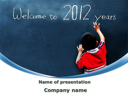 Welcome To 2012 PowerPoint Template, 09508, Education & Training — PoweredTemplate.com