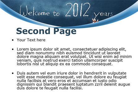 Welcome To 2012 PowerPoint Template, Slide 2, 09508, Education & Training — PoweredTemplate.com