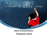 Education & Training: Welcome To 2012 PowerPoint Template #09508