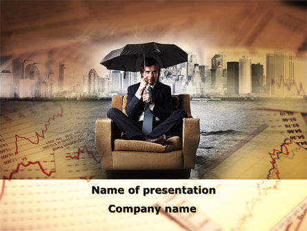 Consulting: Insurance Umbrella PowerPoint Template #09509