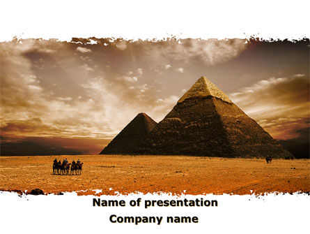 Flags/International: Pyramid of Khafre PowerPoint Template #09511