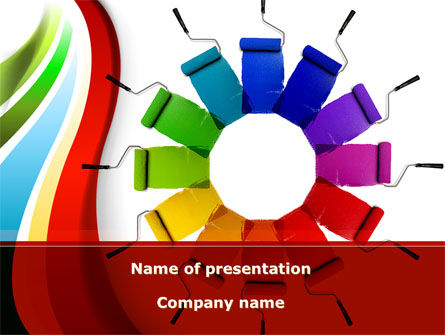 Construction: Rainbow Color Palette PowerPoint Template #09514