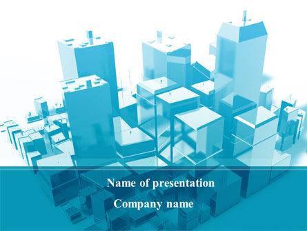 Construction: Urban Blocks PowerPoint Template #09515