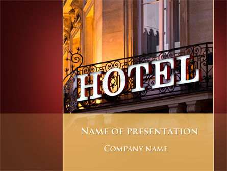 Hotel Signboard PowerPoint Template, 09516, Business — PoweredTemplate.com