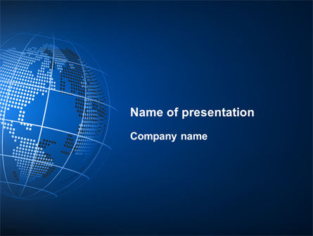 Globe On A Blue PowerPoint Template