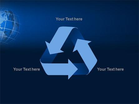 Globe On A Blue PowerPoint Template Slide 10