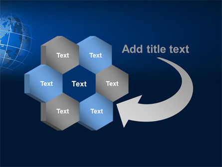 Globe On A Blue PowerPoint Template Slide 11
