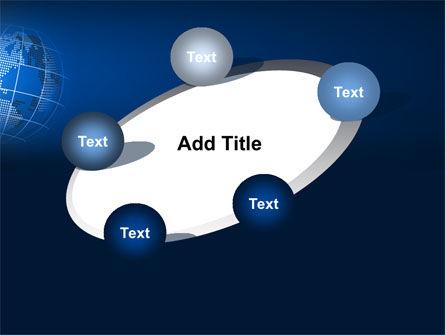 Globe On A Blue PowerPoint Template Slide 14