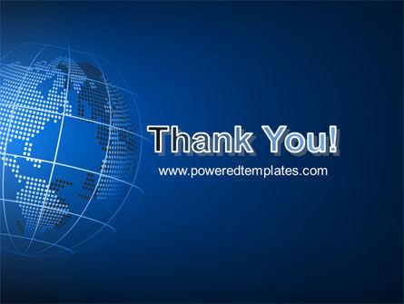 Globe On A Blue PowerPoint Template Slide 20
