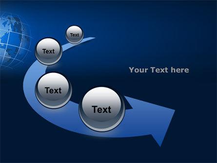 Globe On A Blue PowerPoint Template Slide 6