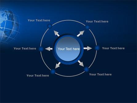 Globe On A Blue PowerPoint Template Slide 7