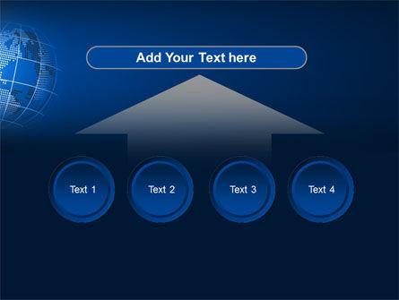 Globe On A Blue PowerPoint Template Slide 8