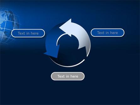 Globe On A Blue PowerPoint Template Slide 9