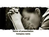 Religious/Spiritual: Praying Girl PowerPoint Template #09520