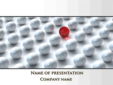 Red Among Whites PowerPoint Template, 09521, Consulting — PoweredTemplate.com
