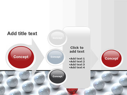 Red Among Whites PowerPoint Template Slide 17
