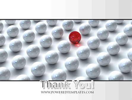 Red Among Whites PowerPoint Template Slide 20