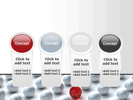 Red Among Whites PowerPoint Template Slide 5