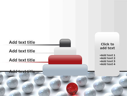 Red Among Whites PowerPoint Template Slide 8