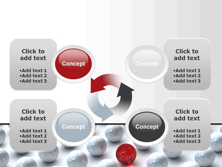 Red Among Whites PowerPoint Template Slide 9